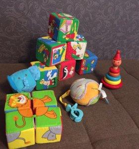 Кубики, пирамидка и мягкая подвеска