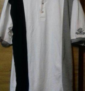 Красивая  новоя футболка -поло.Размер -54-56.