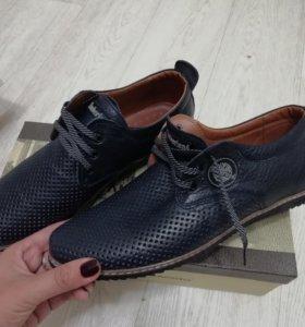 Подростковые, 39 р, ботинки Нат кожа