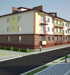 Квартира, свободная планировка, 52.3 м²