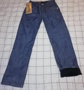Новые теплые джинсы на флисе