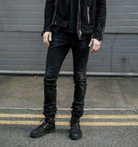 Чёрные мужские джинсы Topman (grunge style)