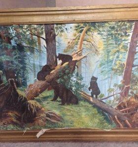 Картина Шишкина «Утро в сосновом бору»