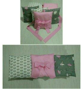 Бортики - подушки в кроватку