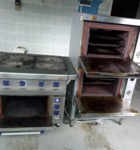 Плита 4х конфорочная Абат с духовкой