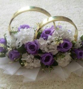 Свадебное украшение на машину💕🎉