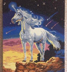 Картина алмазной мозаикой « Единорог»