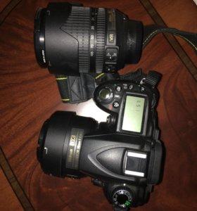 Фотоаппарат зеркальный с двумя объективами