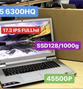 Мощный игровой 17.3 IPS i5 6300HQ/8g/GTX950 4g