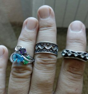 Серебряное кольцо размер 17,5