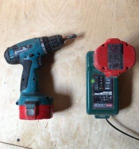 Два шуруповёрта Макита 2 аккумулятор, кейс.