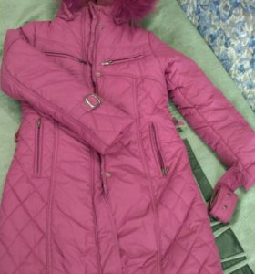 Новое зимние пальто/ пуховик 152 ростовка