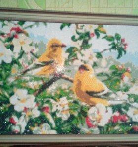 """Картина алмазами """"Птички"""""""