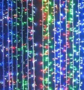 Светодиодные занавески, шторы, сетки.