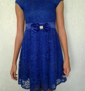 Синее платье для девочки