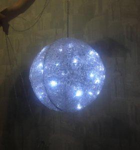 Светодиодный светильник из акриловых волокон