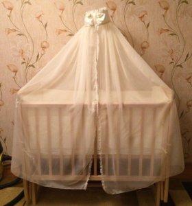 Кроватка+комод с пеленальным столиком