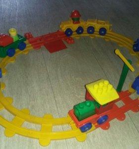 Железная дорога, конструктор, лего
