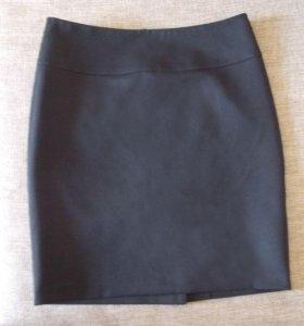 Юбка черная прямая офисная