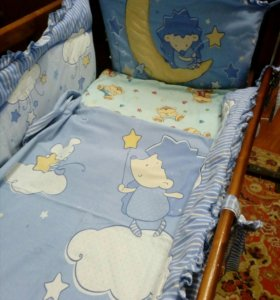 Детская кроватка+постельные принадлежности