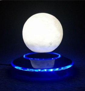 "Левитирующая 3D Лампа ""3D moon night lamp"""
