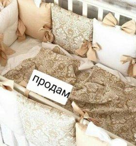 комплект в кроватку из домасского хлопка