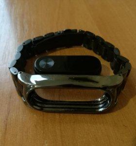Металлический стильный браслет для mi band