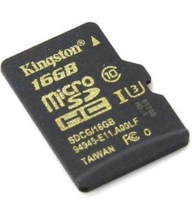 Micro cd Kingston 16 gb.