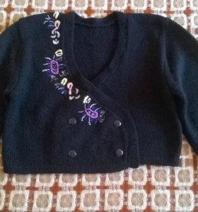 Джемпер укороченный ручной вязки