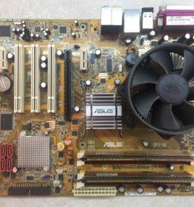Связка Материнская ASUS P5B+Intel Core2.8+DDR2 4GB