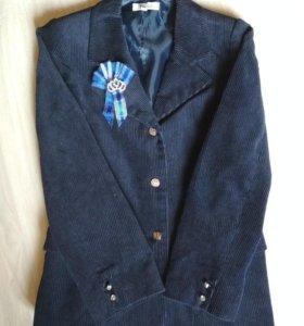 Пиджак школьный синий