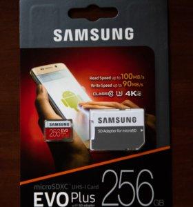 Карта памяти Samsung EVO Plus microSDXC 256 Гб