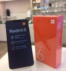 Смартфон Xiaomi Redmi 6 3/32gb черный