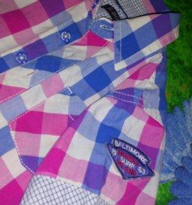 Рубашка на мальчика рост 104-116