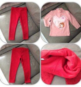 Красные лосины-брючки на осень mothercare