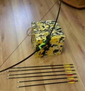Лук для стрельбы со стрелами + мишень