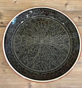 Ляган 37 см коричневый - керамика