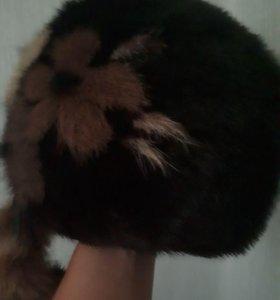 Продам шапку норковую мало б/у