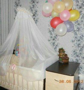 Детская кровать-трансформер маятник