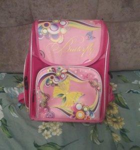 Рюкзак школьный, ортопедический для девочки.