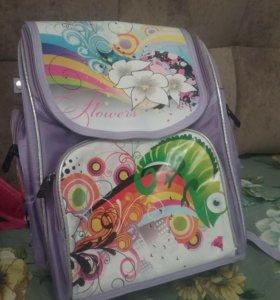 Рюкзак школьный, ортопедический, для девочки.