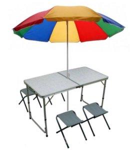 Зонты, туристические столы.