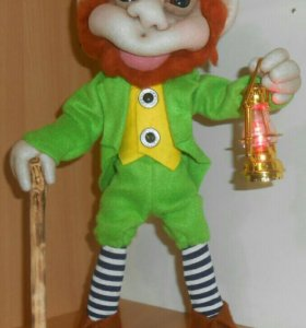 Интерьерная кукла. Леприкон