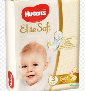 Подгузники Haggies Elite Soft, 3 размер, 80 шт