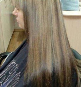 Кератиновое выпрямление волос , стрижки
