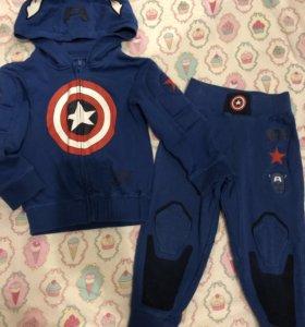 Спортивный костюм  *капитан америка* для мальчика