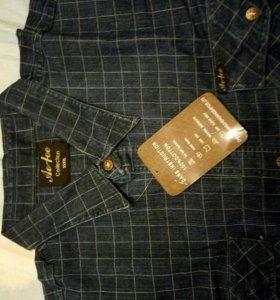 Джинсовая рубашка 58-60разм.