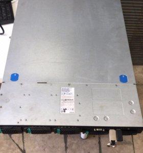 Сервер 3600gb (4HHD по 900) ОЗУ 64gb 2 intel Xeon