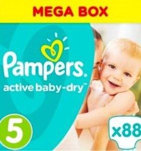 Памперсы 5 active baby-dry(11-18 kg)