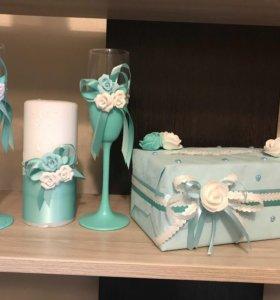 Свадебный набор, на стол молодоженам